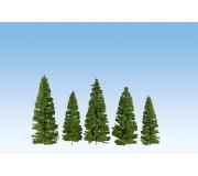 NOCH 24500 Sapins, verts foncés, 7 pièces, 7 – 14 cm de haut