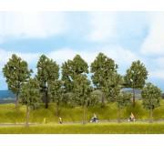 NOCH 24105 Trees Summer, 5 pieces, 10 - 14 cm high