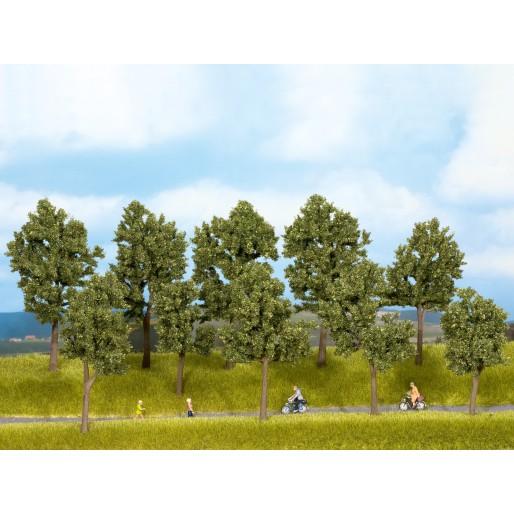NOCH 24205 Trees Summer, 10 pieces, 10 - 14 cm high