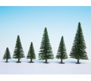 NOCH 26821 Model Fir Trees, 50 pieces, 5 - 14 cm high