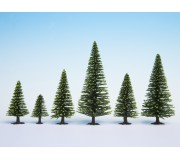 NOCH 26826 Model Spruce Trees, 50 pieces, 5 - 14 cm high