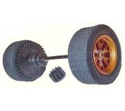 Scalextric W8577W REAR AXLE ASSY/PINION C2465W