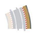 Scalextric C8238 Bordures Extérieures Courbe Radius 4 22.5° (4 pcs)