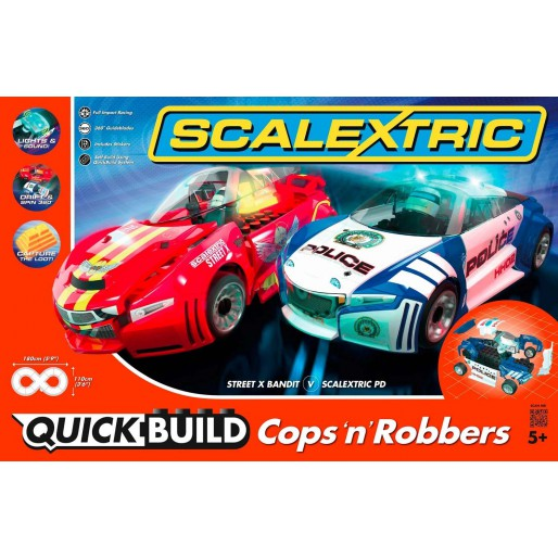 Scalextric C1323 QUICK BUILD Cops 'n' Robbers Set