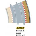 Scalextric C8238 Radius 4 Curve Outer Borders 22.5° (4 pcs)