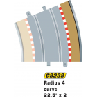Scalextric C8238 Radius 4 Curve Outer Borders 22.5° x4