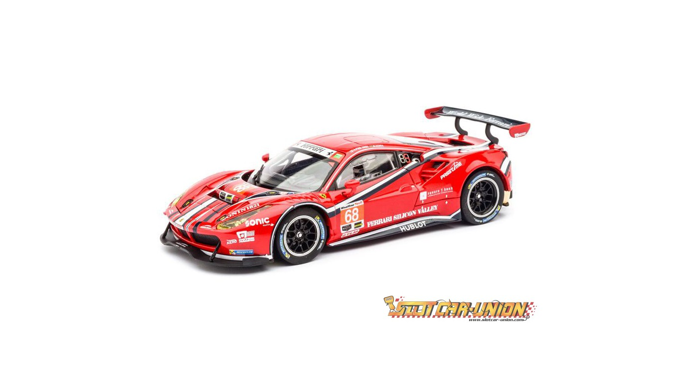 carrera evolution 27558 ferrari 488 gt3 af corse slot car union. Black Bedroom Furniture Sets. Home Design Ideas