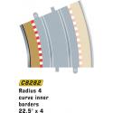 Scalextric C8282 Bordures Intérieures Courbe Radius 4 22.5° x4