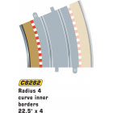 Scalextric C8282 Radius 4 Curve Inner Borders 22.5° x4