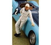 LE MANS miniatures Figure Jean-Pierre Wimille stoof against the car