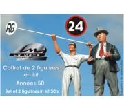 LE MANS miniatures Figurines Alfred Neubauer & Manfred, le mécano