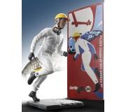 LE MANS miniatures Figurine Pilote courant des années 50 / départ type Le Mans