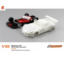Scaleauto SC-6152 American C7R White Racing Kit