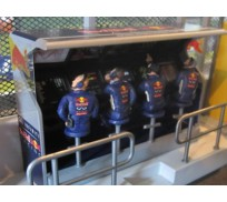 Slot Track Scenics TS/Dec. 3 Decals Timing Stand – Red Bull