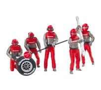 """Carrera 21131 Lot de personnages, mécaniciens """"Carrera Crew"""""""