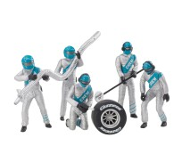 "Carrera 21133 Set of figures, mechanics ""silver"""