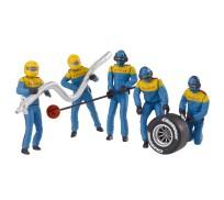 """Carrera 21132 Lot de personnages, mécaniciens """"bleu"""""""