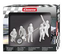 """Carrera 21134 Lot de personnages, mécaniciens """"incoloré"""""""