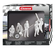 "Carrera 21134 Set of figures, mechanics ""unpainted"""