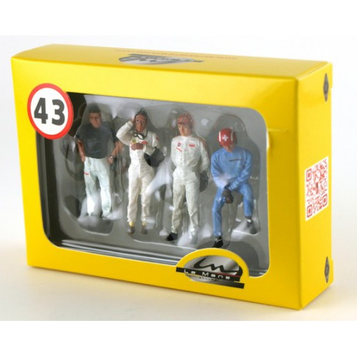 LE MANS miniatures Figures Set of 4 drivers