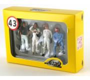 LE MANS miniatures Figurines Coffret de 4 pilotes