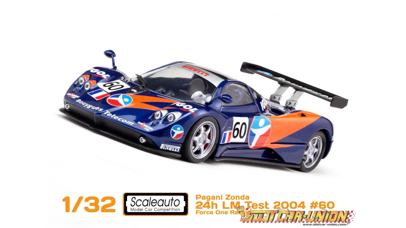 scaleauto sc-6045 pagani zonda 24h lm test 2004 n.60 force one