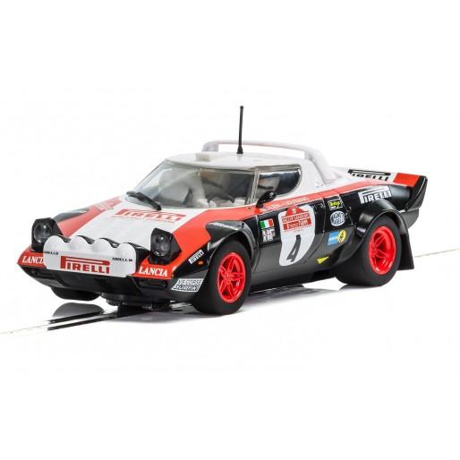 scalextric c3931 lancia stratos - san remo rally 1978 - slot car-union