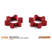 Scaleauto SC-1645 Guide PRO Nut Lightened aluminium, Red anodized
