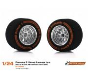 Scaleauto SC-2422p Procomp 3 Klasse-1 sponge tyre 26,2 x 16 mm 16 mm hub 3 mm axle