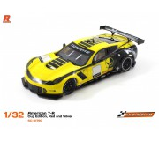 Scaleauto SC-6179C American C7-R Cup Edition, Yellow and Black