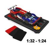 Proses TC-501P Correcteur & Nettoyeur de Pneus pour Slot Car Echelle 1:24/1:32 avec Adaptateur