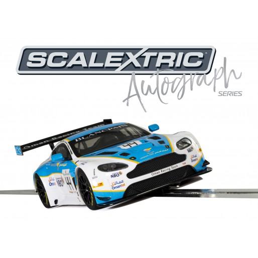 Scalextric C3843AE Autograph Series Aston Martin Vantage GT3 (Oman Racing) - Jonny Adam, Ahmad Al Harthy - Special Edition