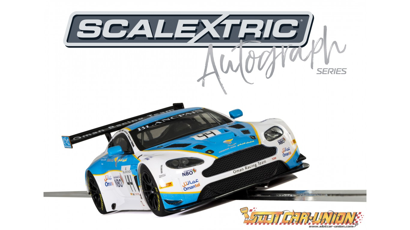 Scalextric C3843ae Autograph Series Aston Martin Vantage Gt3 Oman Racing Jonny Adam Ahmad Al Harthy Special Edition Slot Car Union