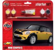 Airfix MINI Cooper S Coffret de Départ - Jaune 1:32