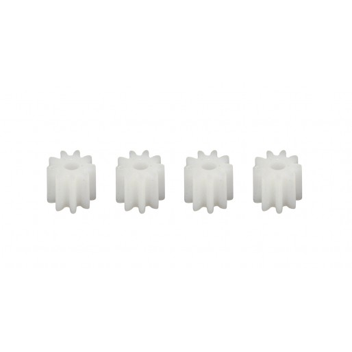 Scaleauto SC-1291 8 tooth Nylon Pinion Set (4) for 1.5mm motor axle.