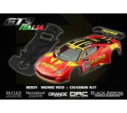 Black Arrow BABCKIT02A Ferrari GT3 Italia MOMO RED Body Kit + Chassis