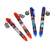 Monster Cars Stylo Poussoir 6 Couleurs