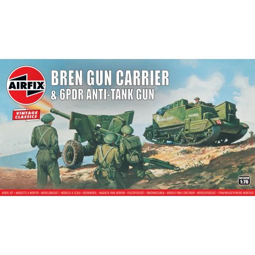 Airfix Vintage Classics - Bren Gun Carrier & 6pdr Anti-Tank Gun 1:76