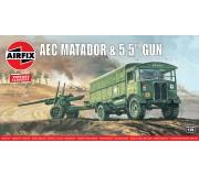 """Airfix Vintage Classics - AEC Matador and 5.5"""" Gun 1:76"""