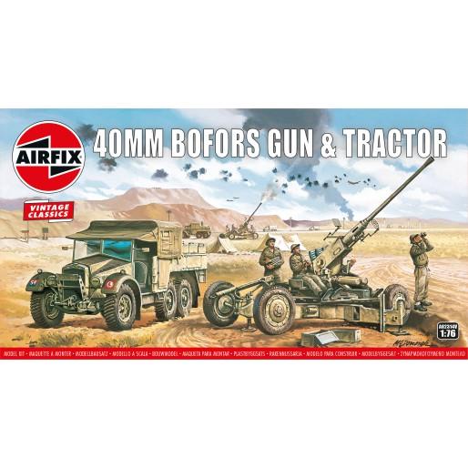 Airfix Vintage Classics - Bofors 40mm Gun & Tractor 1:76