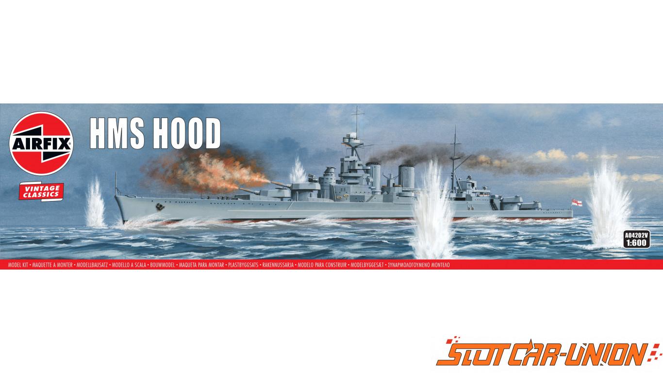 Modèle Cuirassé HMS Hood 1:600 Airfix Plastique Construction navale modèle kit