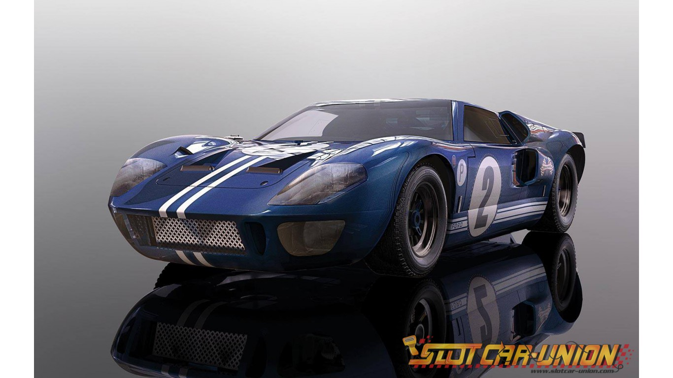 Scalextric Ford GT40 MK4 1967 Sebring Win HD