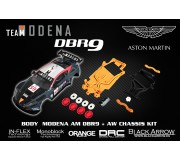 Black Arrow BABCKIT01A AM DBR9 MODENA Body Kit + Chassis