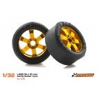 Scaleauto SC-4753 I-S25 Racing Rubber Tyres 19x10mm x4
