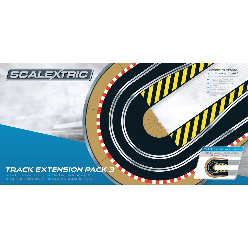 Scalextric Track Pack C8206 courbes C8246 Swipe chicanes Half Straight Powerbase
