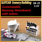 MHS Model SB-43 Customizable Raceway NameBoard Stand with Letters
