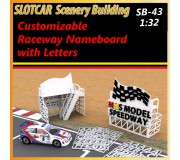 MHS Model SB-43 Customizable Raceway NameBoard with Letters