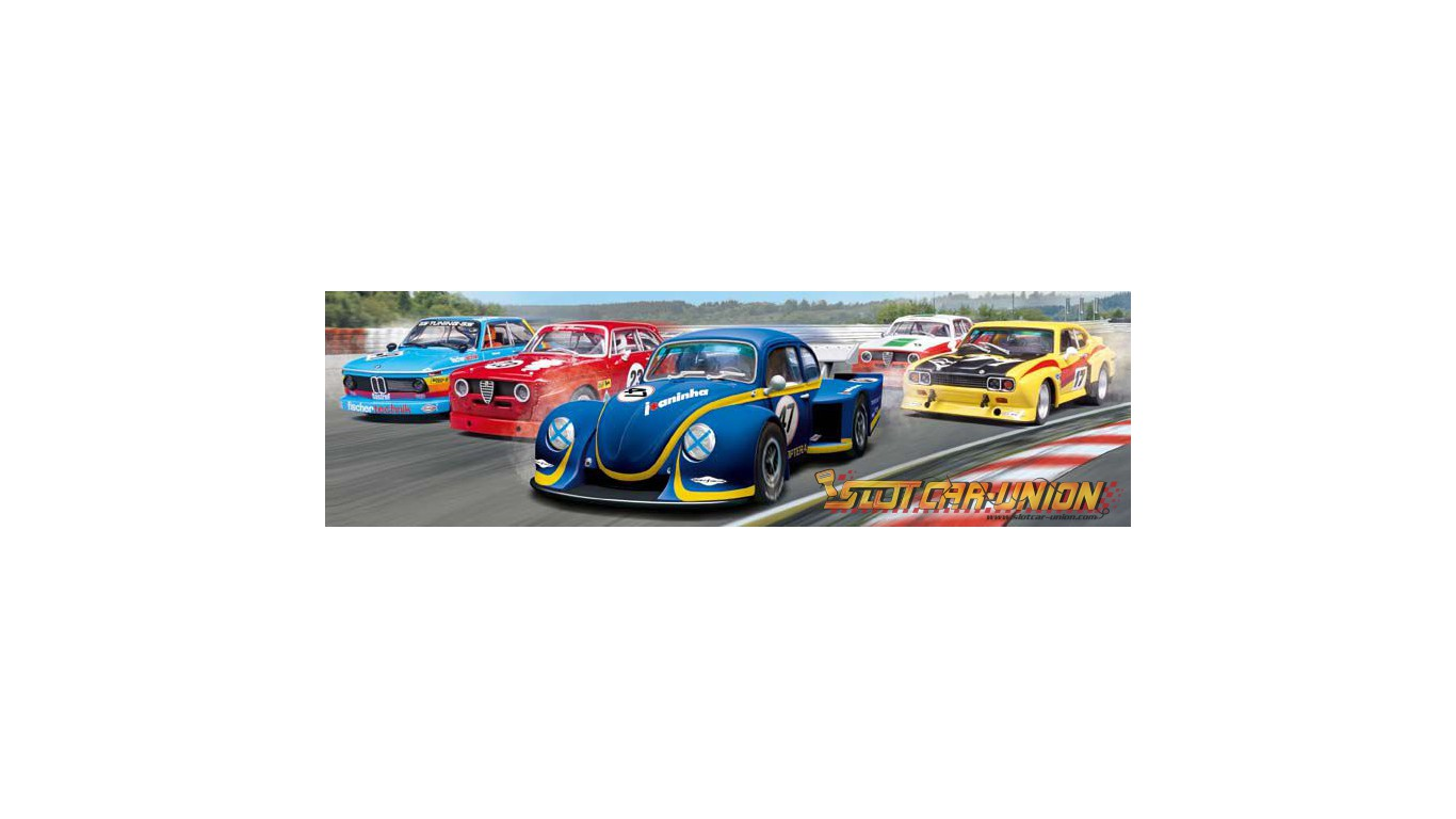 carrera evolution 27470 vw k fer group 5 race 1 slot car union. Black Bedroom Furniture Sets. Home Design Ideas