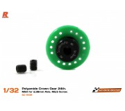 Scaleauto SC-1110R Polyamide Crown Gear 24th. M50 for 2,38mm Axle. M2,5 Screw