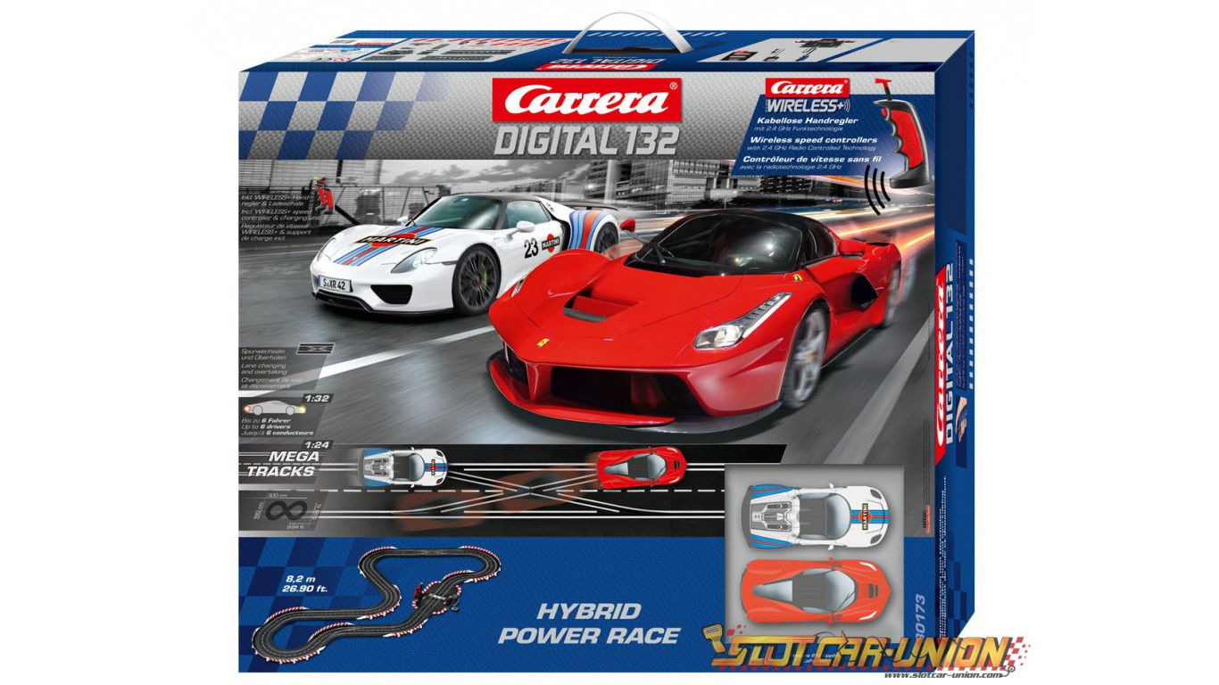 carrera digital 132 30173 hybrid power race set slot car union. Black Bedroom Furniture Sets. Home Design Ideas